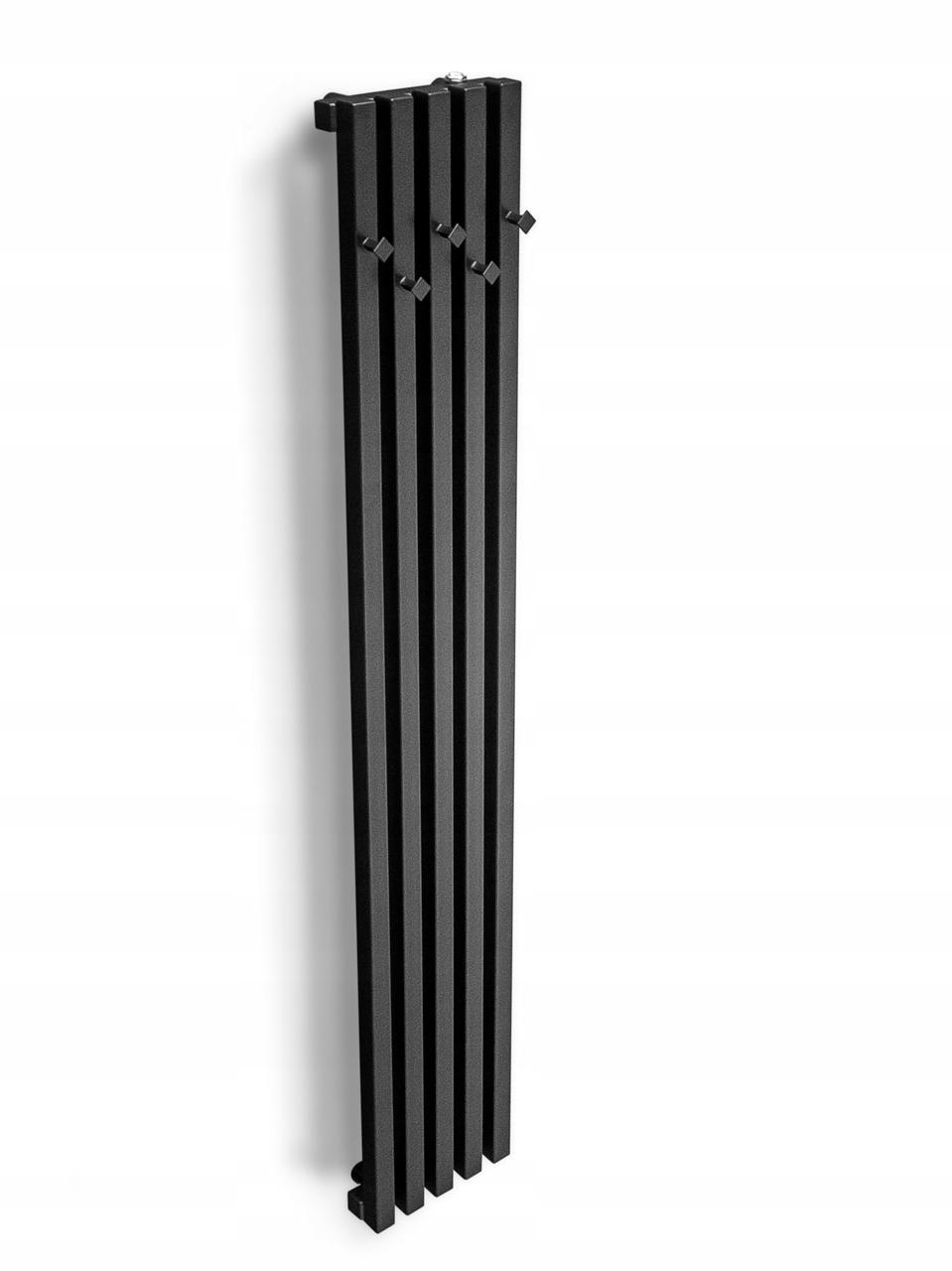 150x24 узкая вешалка ESTO радиатор графит / черный