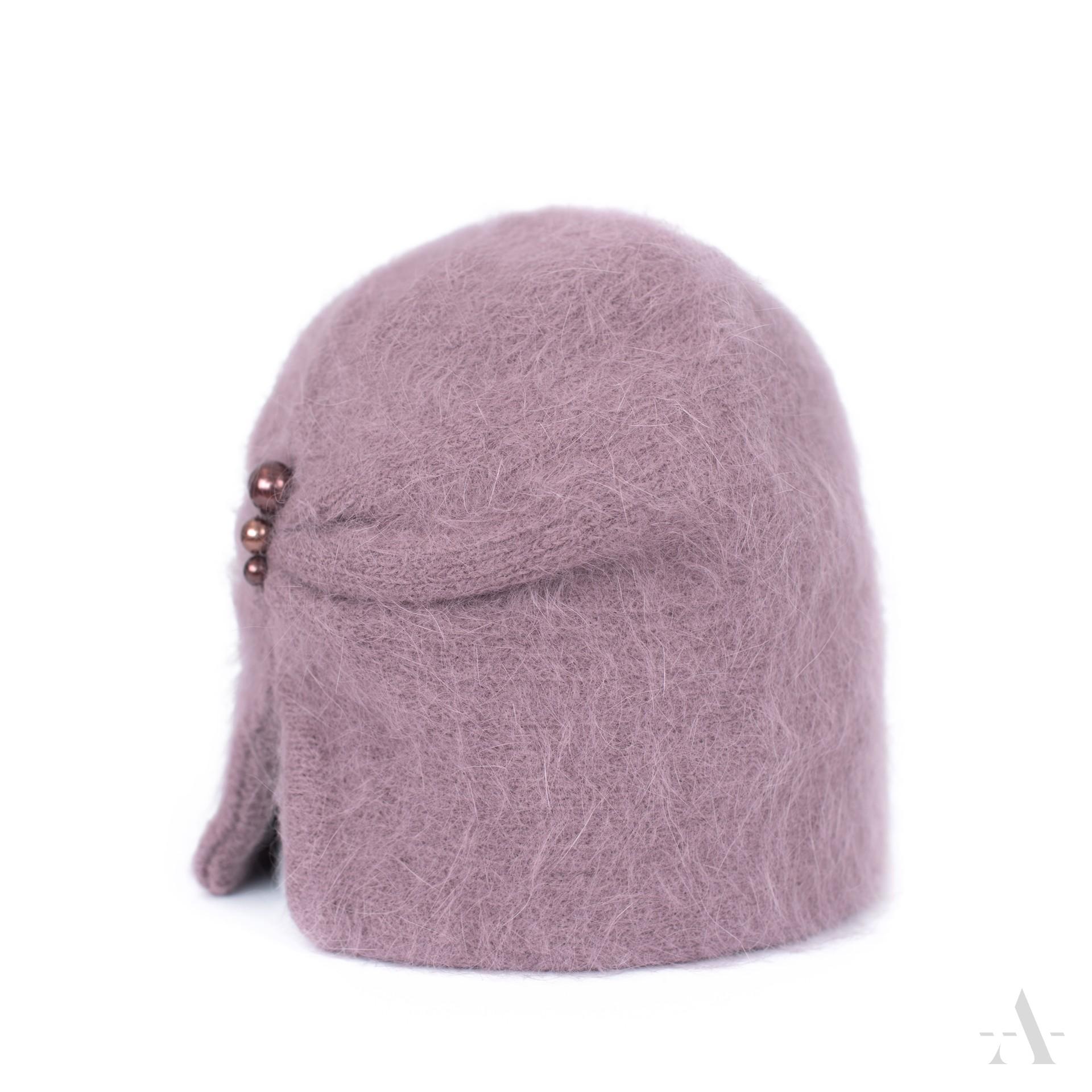 Dámska zimná čiapka ANGORA Elegantná RETRO