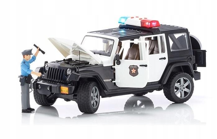 Špina 02526 Jeep Wrangler POLICE s figúrkou