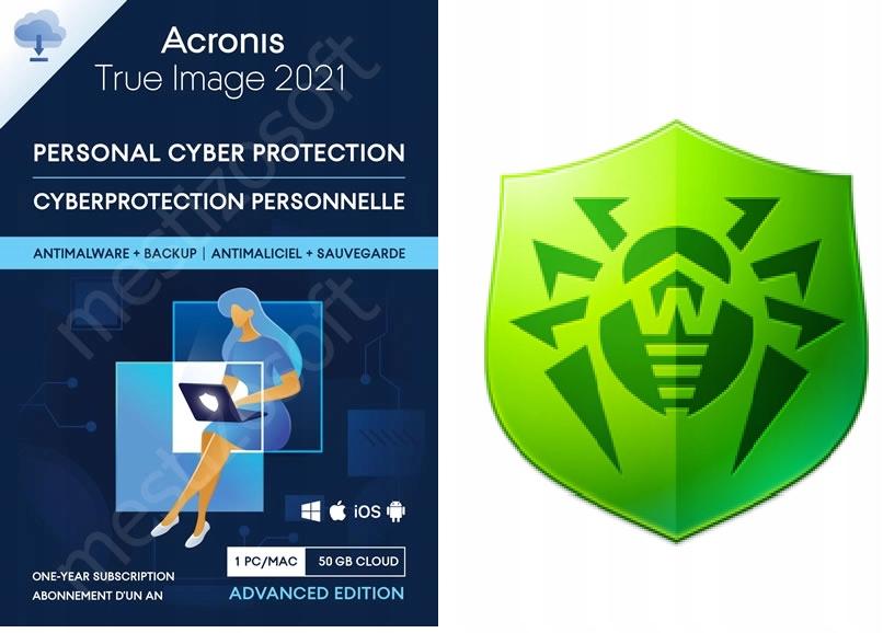 Acronis True Image 2021 + Dr.Web Antivirus 1PC