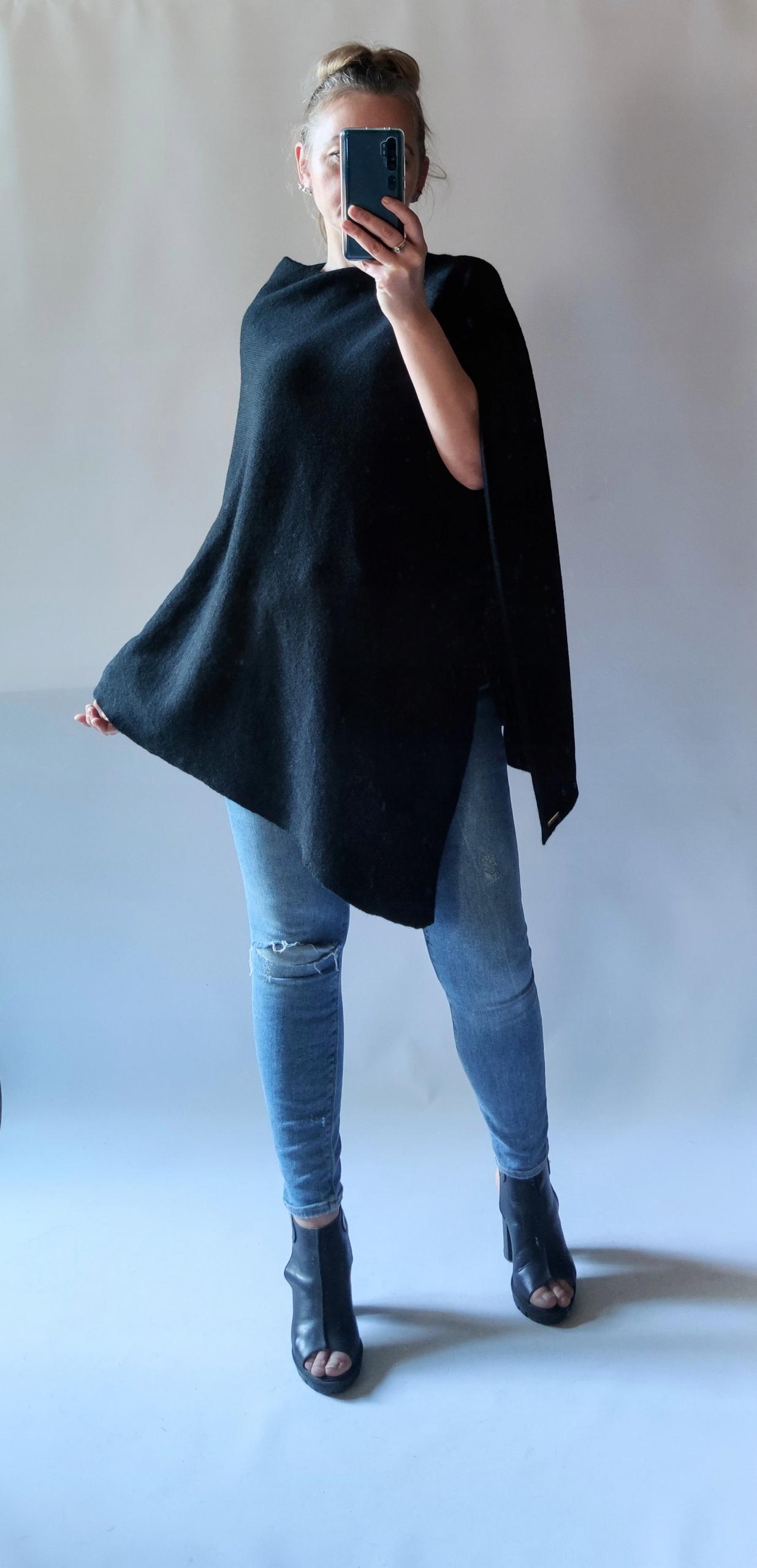 Ponczo,narzutka,sweter. 8544652042 - Allegro.pl