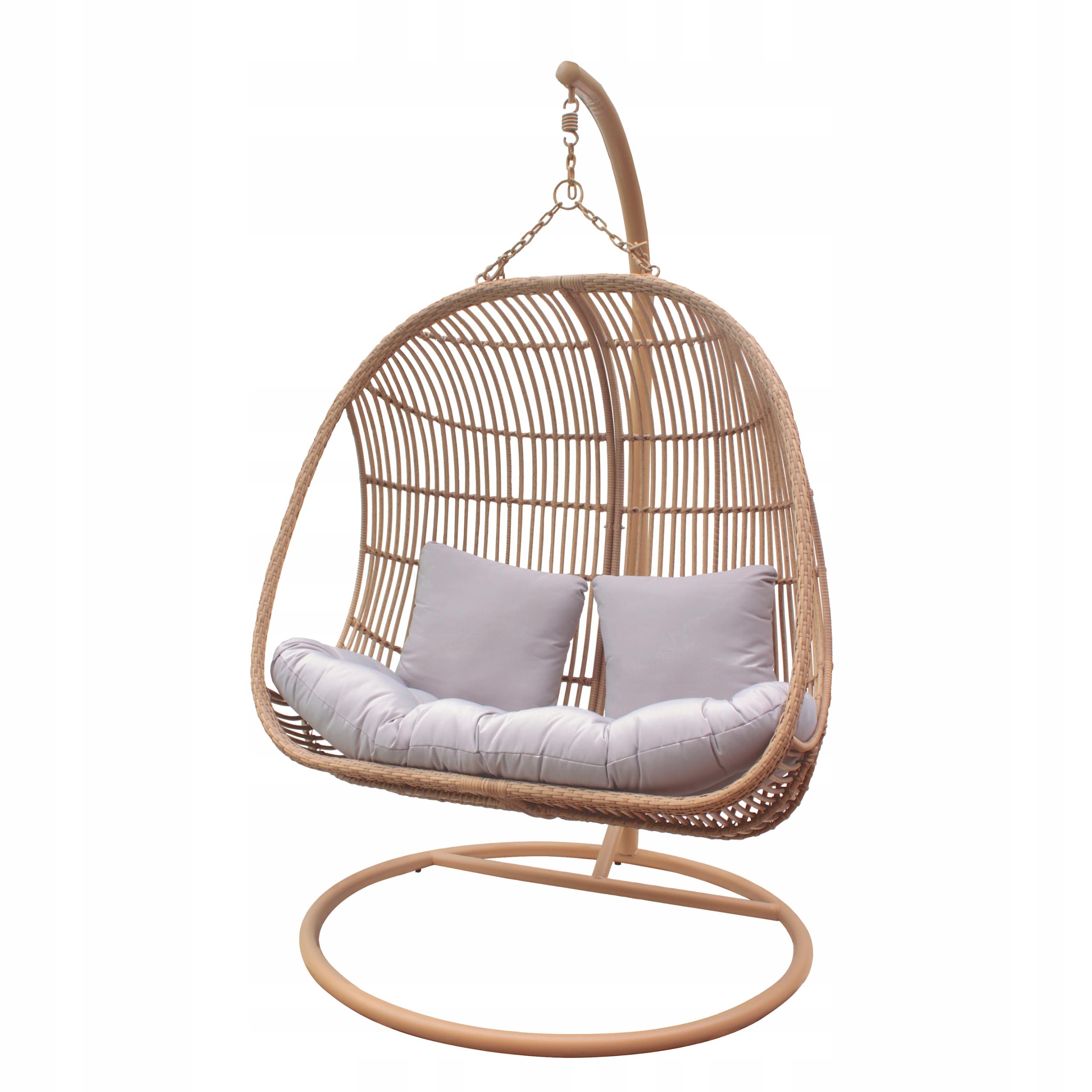 Závesná záhradná stolička XXL hojdací kokonový kôš Typ samostatne stojacej závesnej stoličky