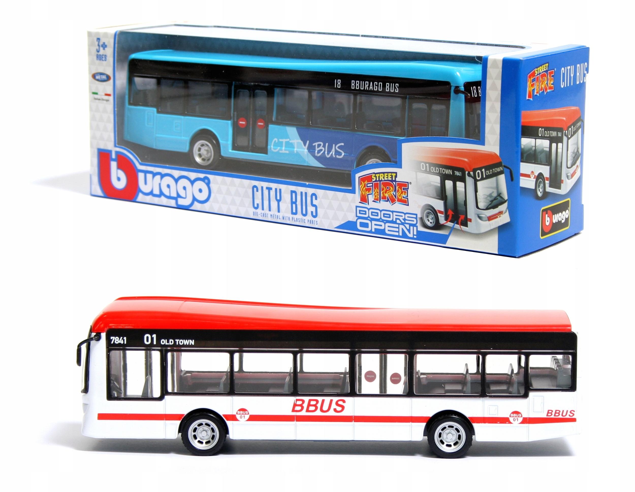 Городской автобус ДВУХЦВЕТНЫЙ 1:43 Bburago 18-32102