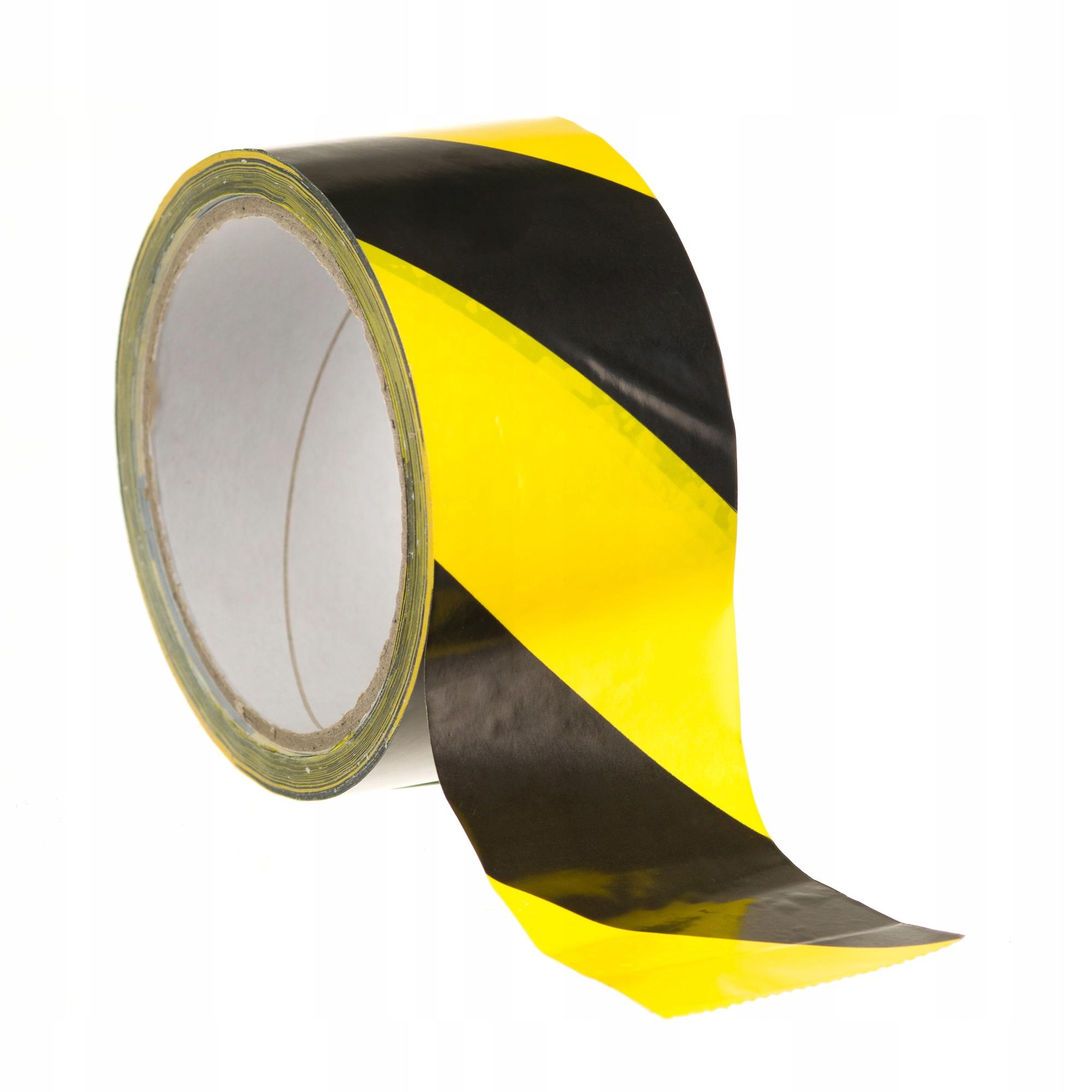 Предупреждающая лента Черный и желтый 33m