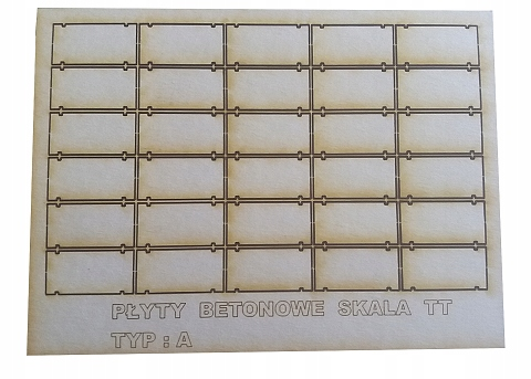 Płyty drogowe betonowe 150x300 skala 1:120 TT