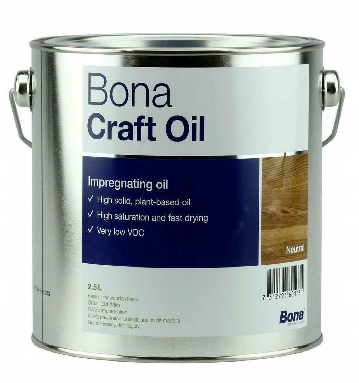 Bona Craft Oil - Olej do podłóg - Neutralny- 2,5 L
