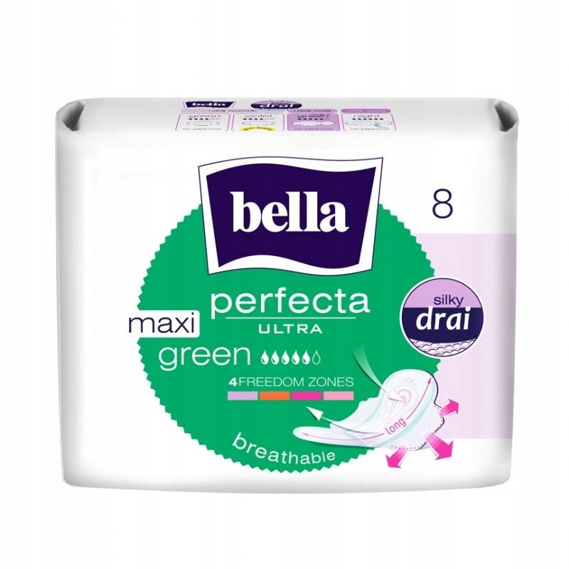 Podpaski Bella Perfecta Ultra Maxi Green 8 szt.