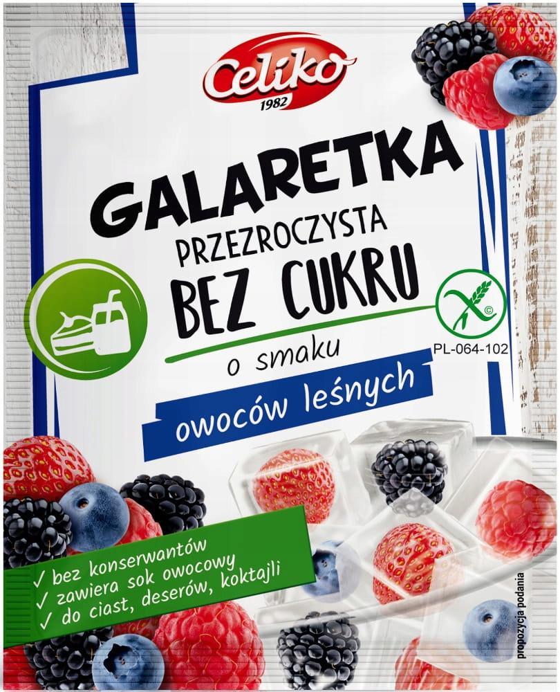 Желе из лесных ягод Celiko прозрачное без сахара