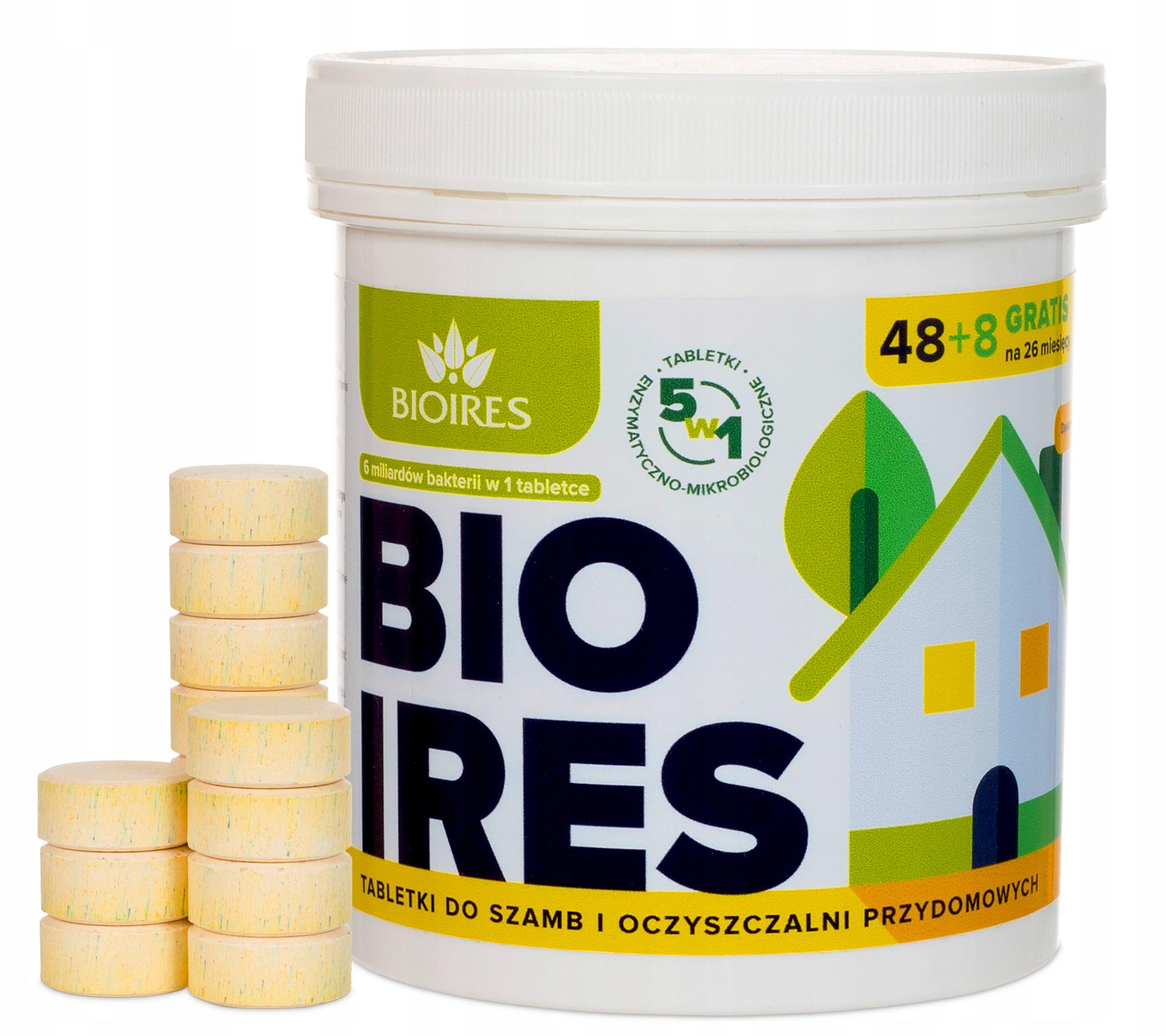 БИОИРЕС таблетки для очистки сточных вод септиков 5в1 48 + 8