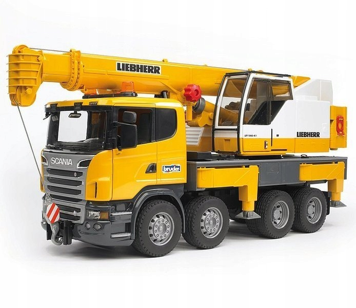 Bruder 03570 Scania dźwig Liebherr 1,3m dźwięk