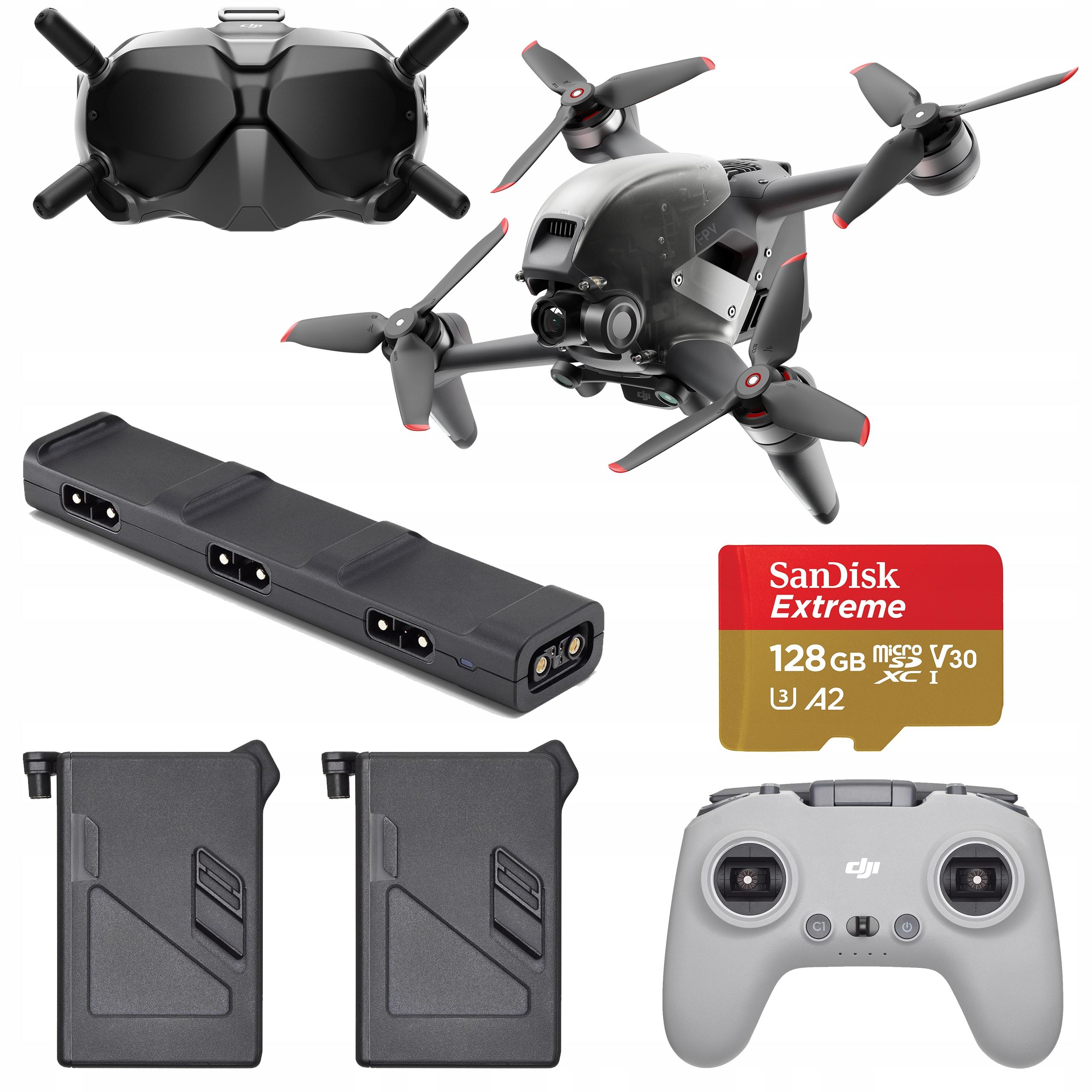 Dron DJI FPV + Fly More Kit (Combo) 3 Baterie Hub