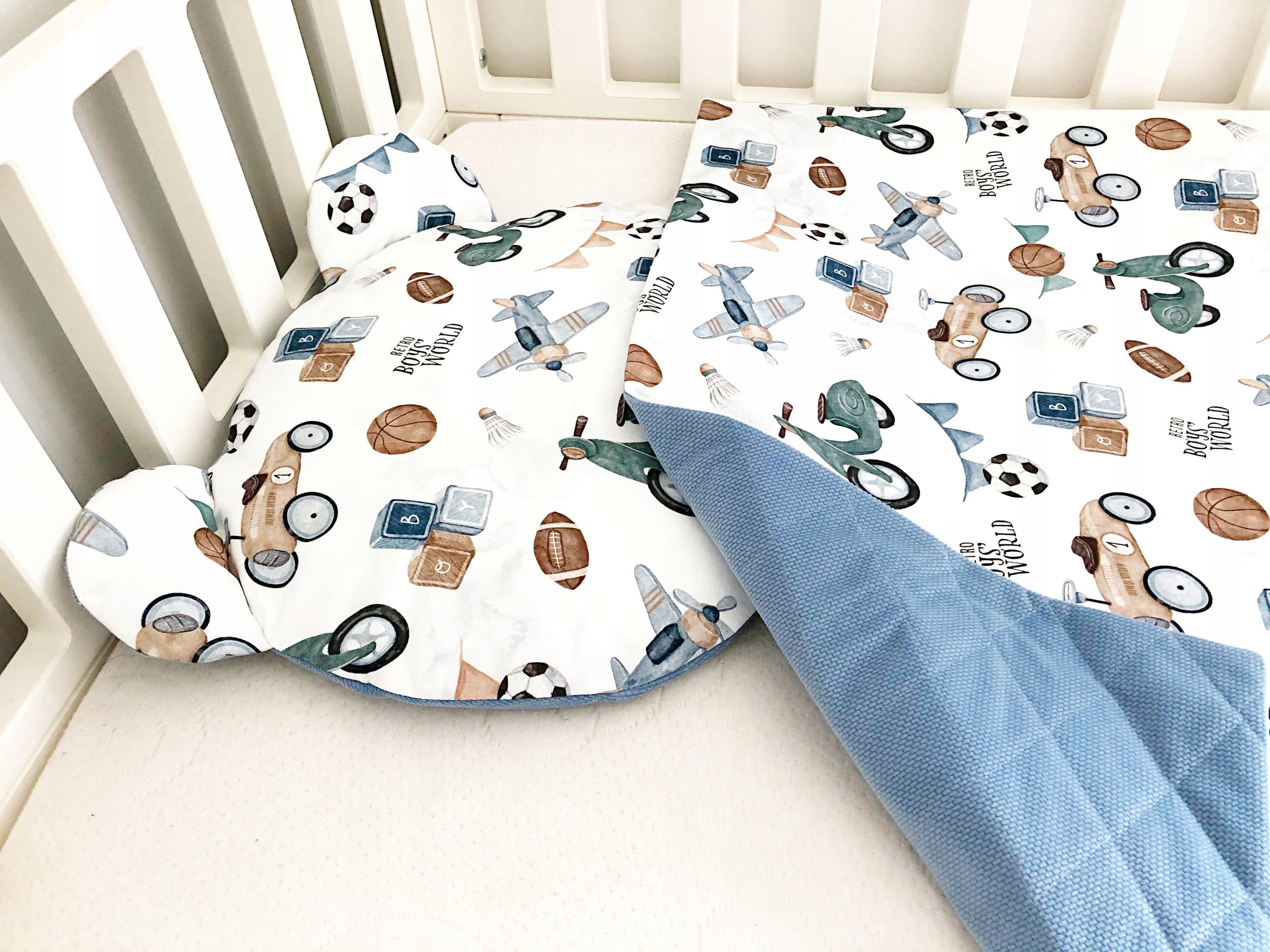 Sada zamatovej deky + vankúšik s uškom Retro boy