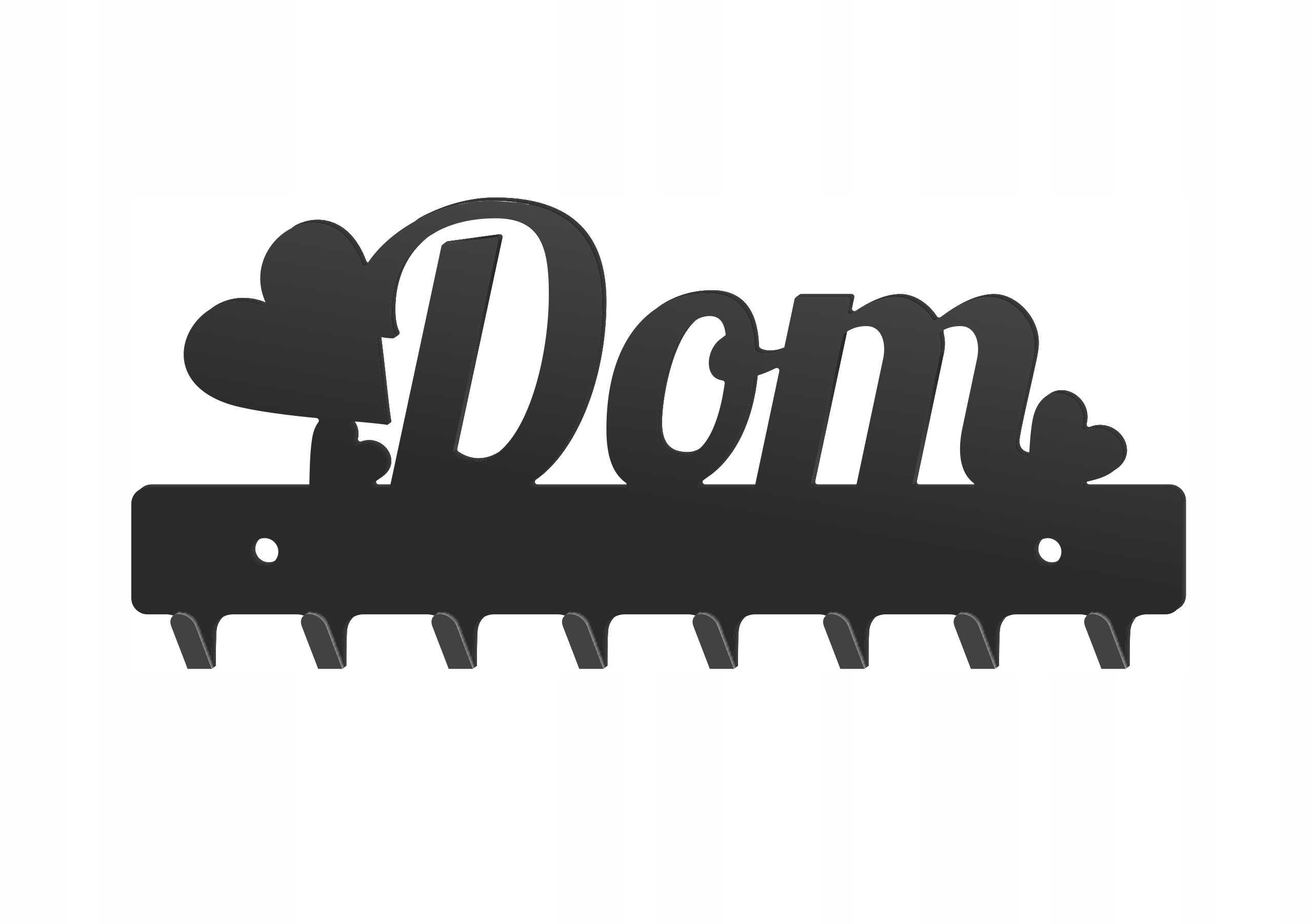 WIESZAK metalowy na klucze DOM W143 20cm