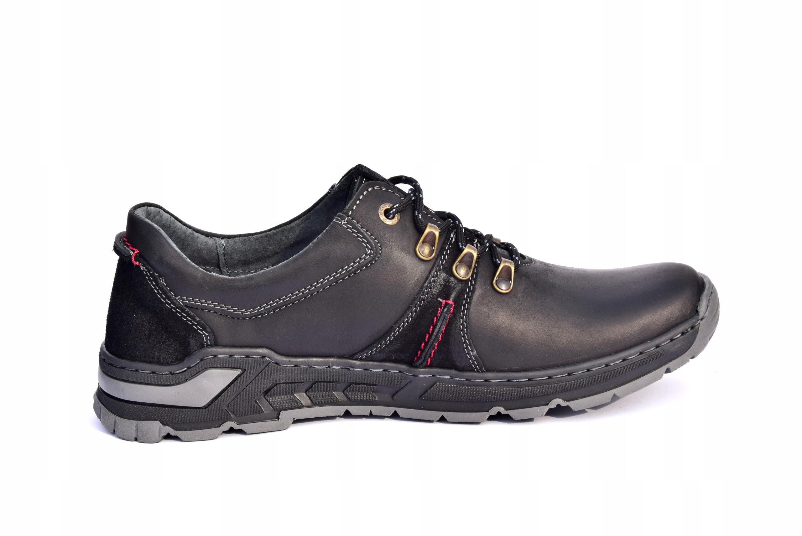 Półbuty trekkingowe obuwie skórzane polskie 0242 Marka inna