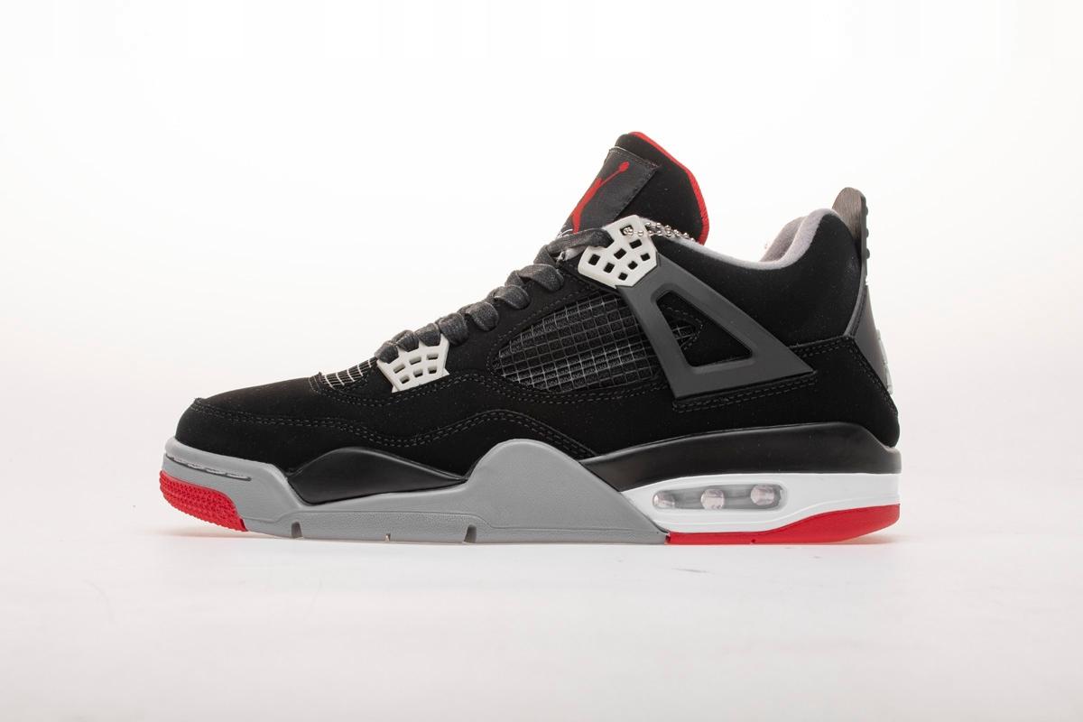 Nike Air Jordan 4 Retro Bred Sneakers 308497-089