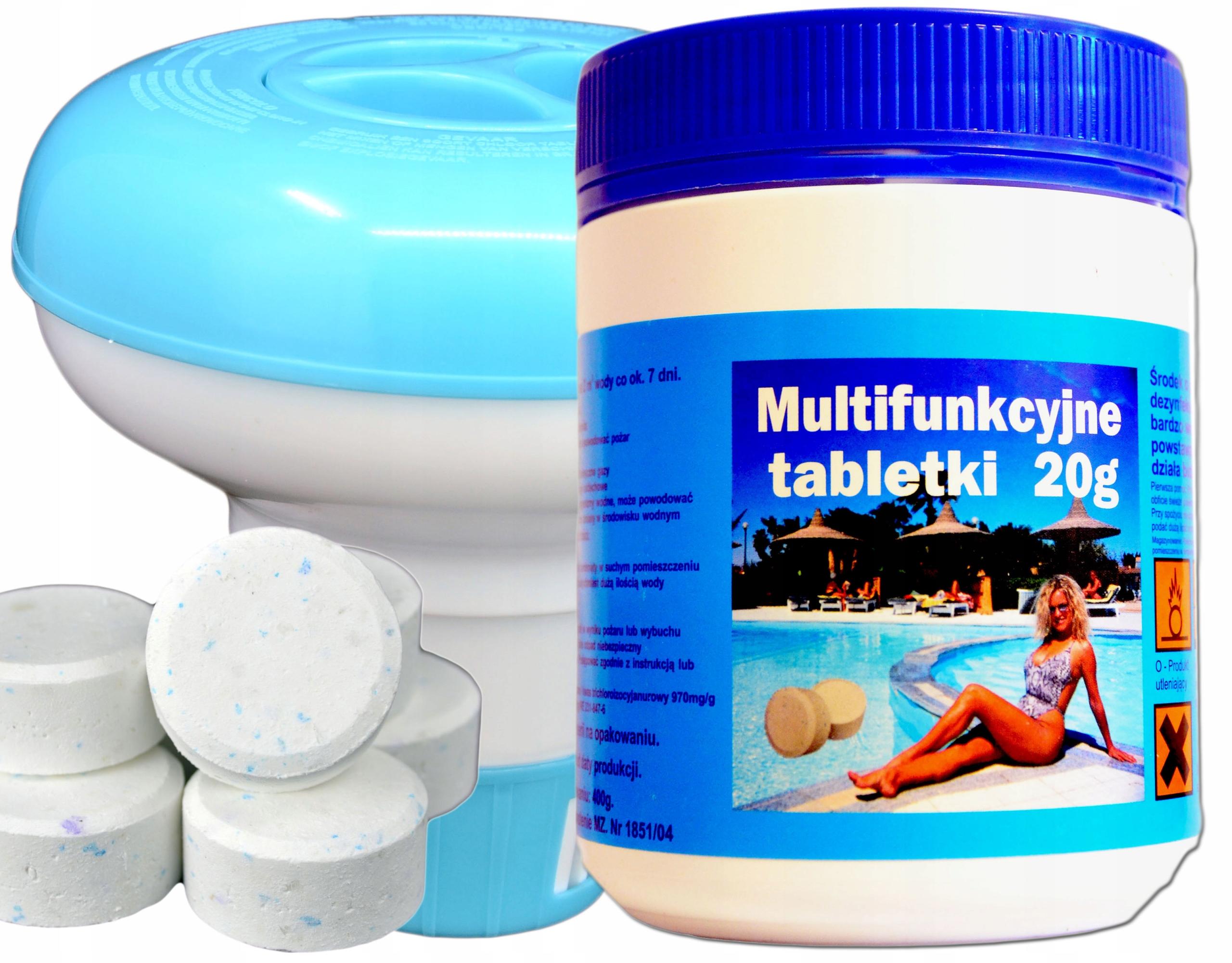 Multi tablety 20g + plavák dávkovač chlór