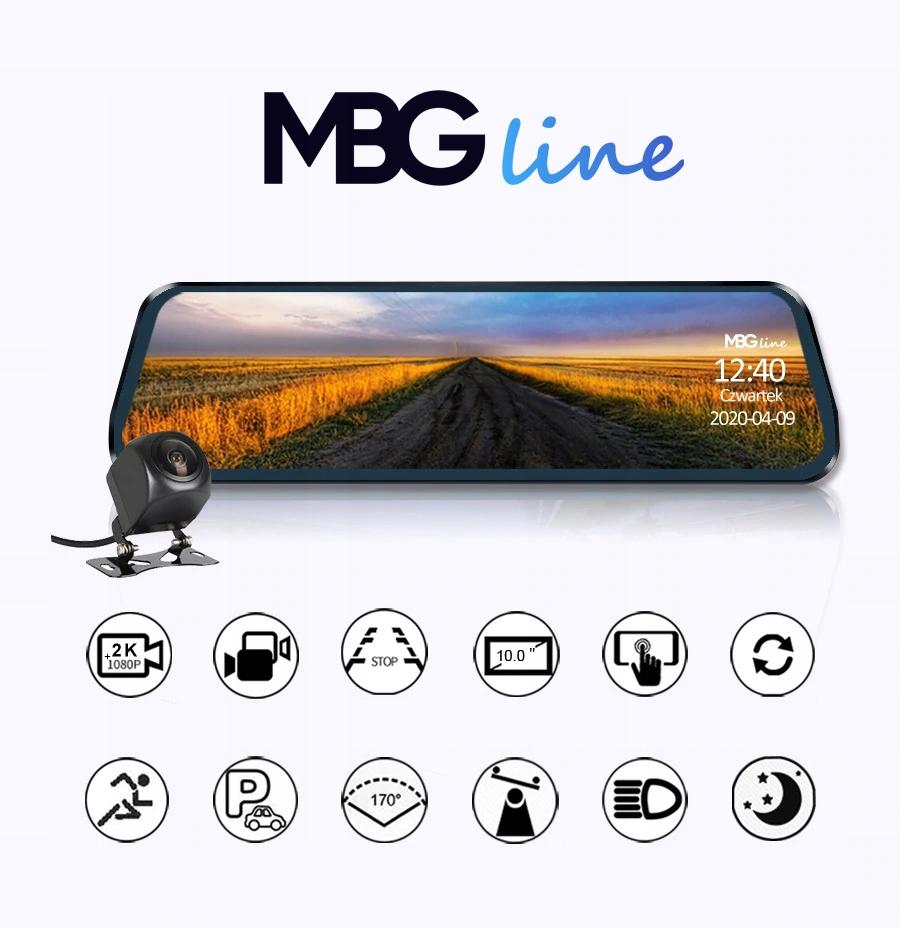 Kamera Rejestrator lusterko 2K+FHD HS900PRO SONY Producent MBG Line