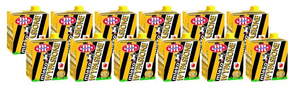 Zestaw 12x mleko UHT Mlekovita Wypasione 2% 0.5l