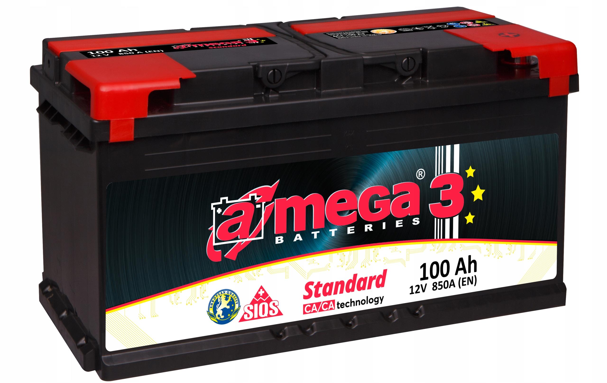 аккумулятор amega стандарт m3 12v 100ah 850a