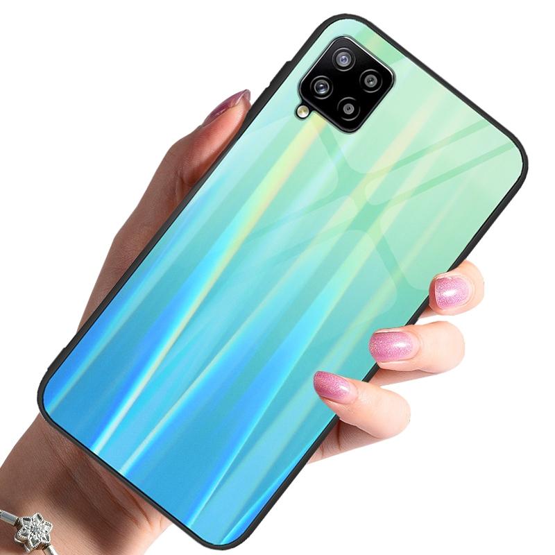 Etui do Samsung Galaxy A42 5G Case Glass +Szkło 9H