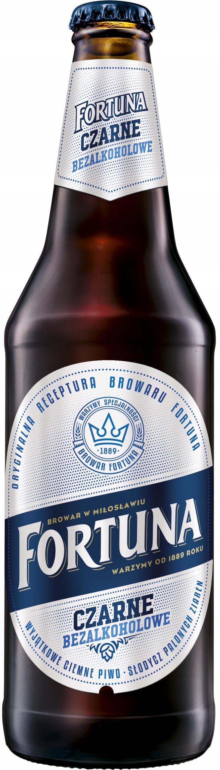 Piwo Fortuna Czarne bezalkoholowa <0,5% 500ml