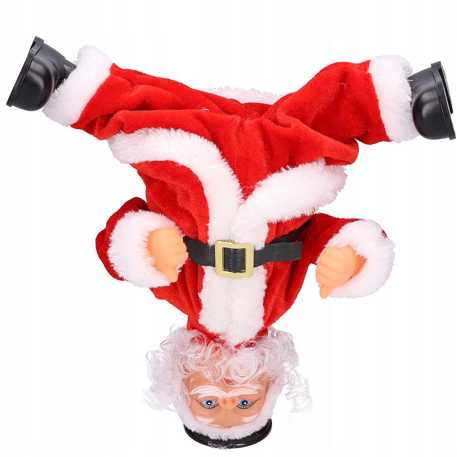 Санта играет в танцы поет подарок на Рождество