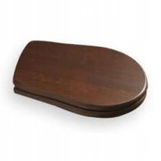 RETRO WC sedadlo, drevo, orech / chróm