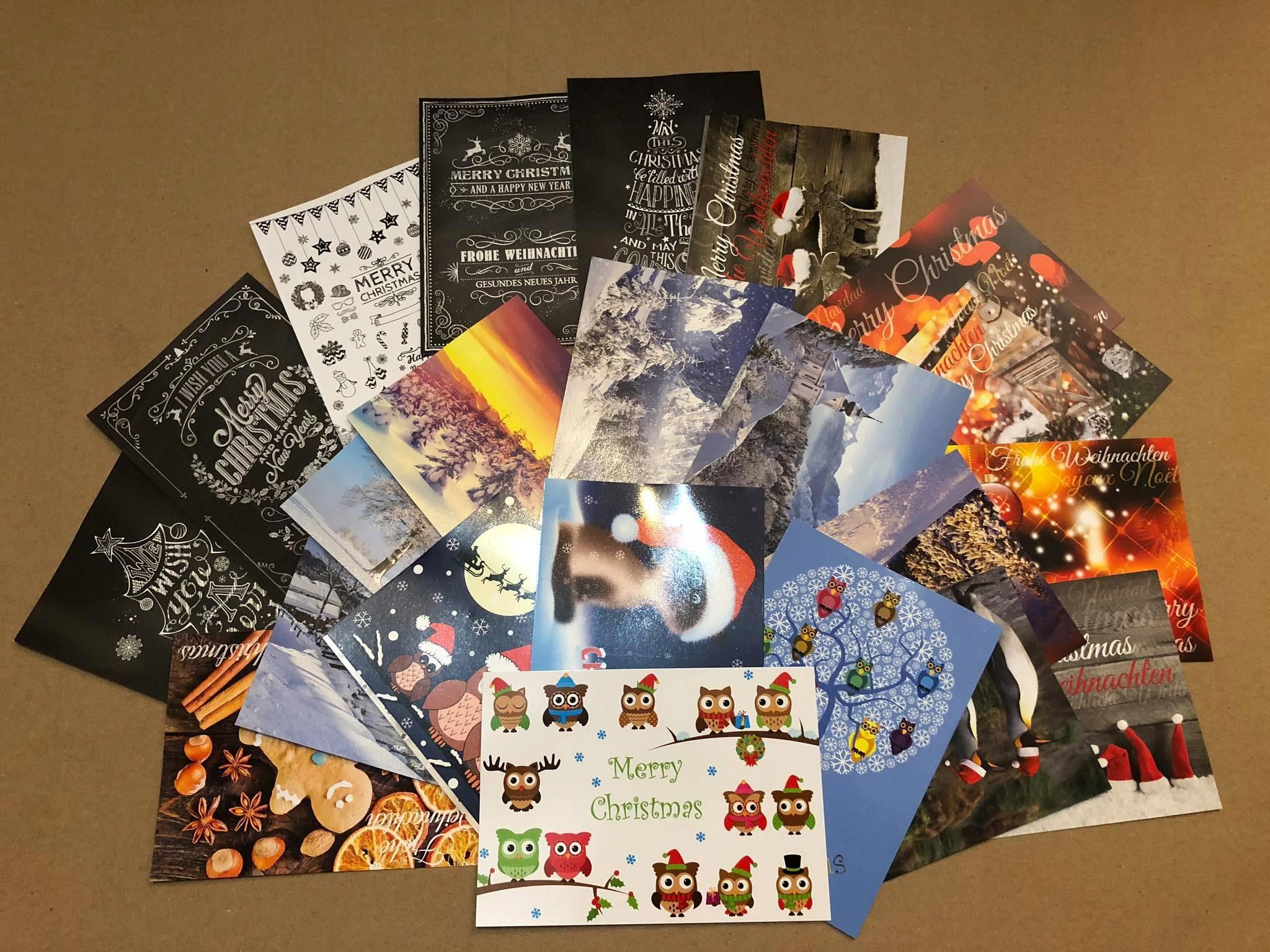 Рождественские открытки на Рождество