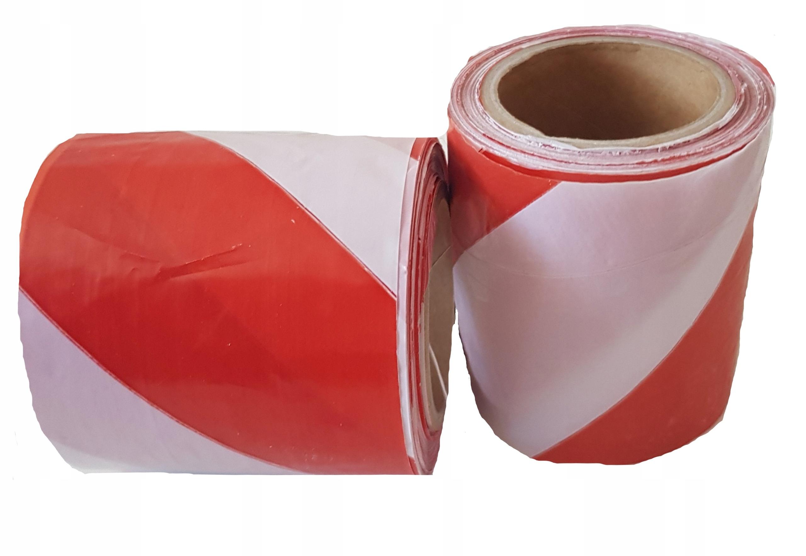 Лента оградительная бело-красная 100 м, ширина 8 см