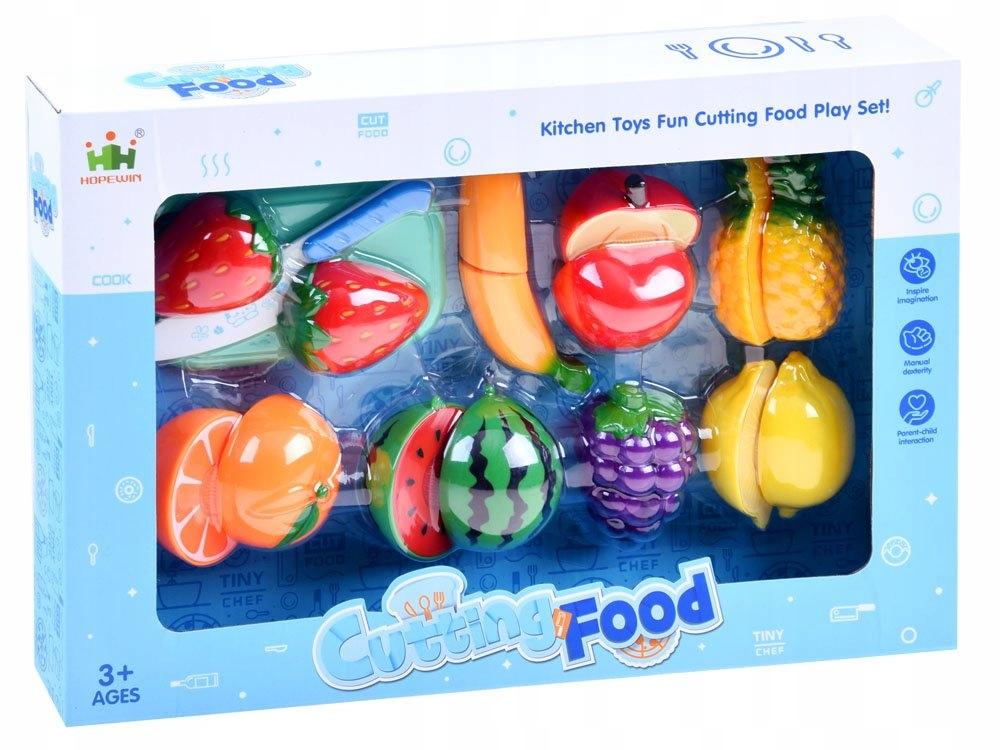 Owoce do krojenia + deska i nóż ZA1725 A Materiał Plastik