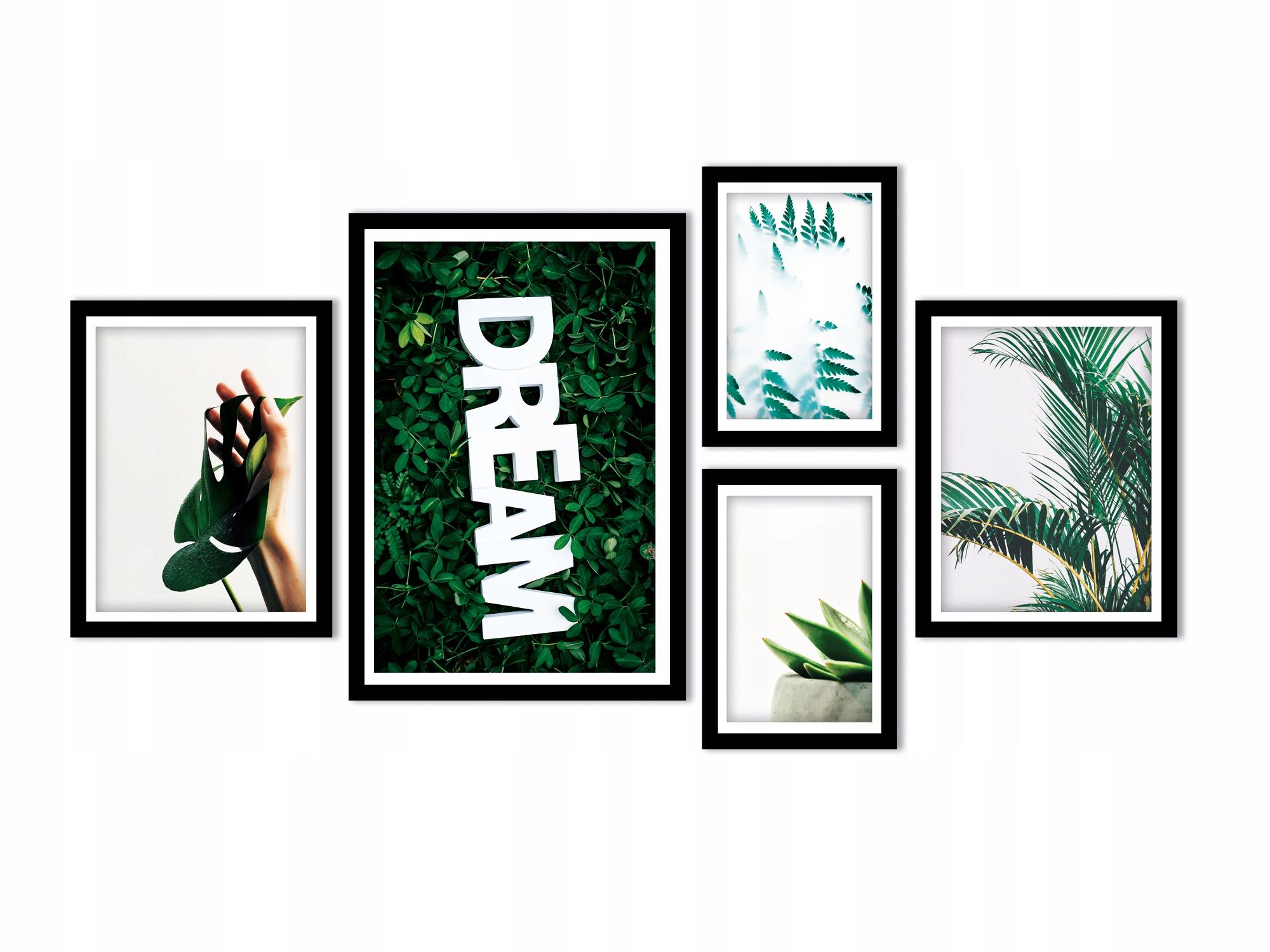 Plakaty w ramie duże 5szt. - Dream