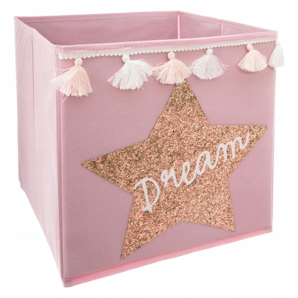Декоративная корзина с пайетками, коробка для игрушек Hit