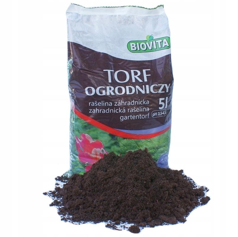 Torf naturalny kwaśny jakość HORTIGRUNT 5L
