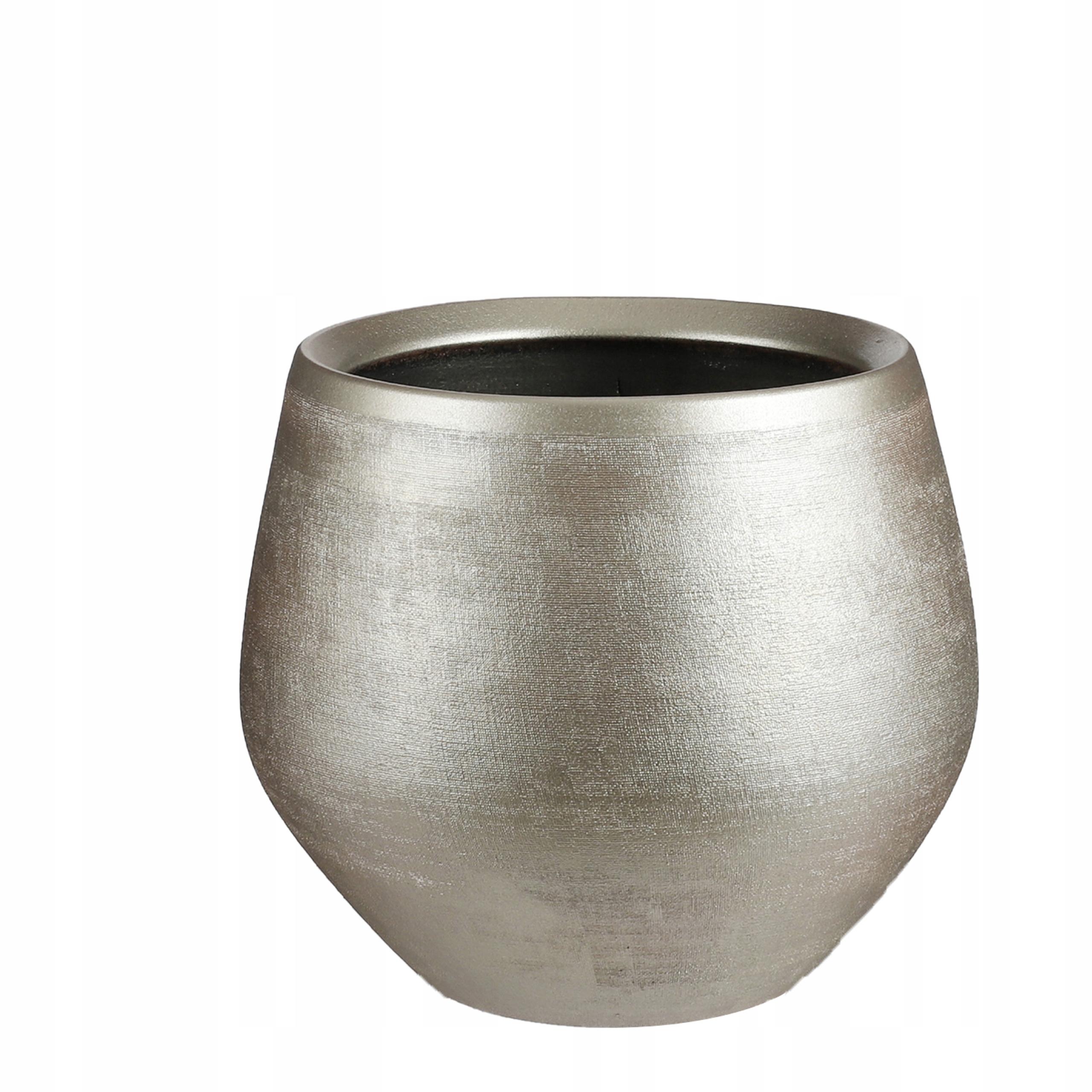 горшки большие золотые керамические DOURO 33/28 ceramics