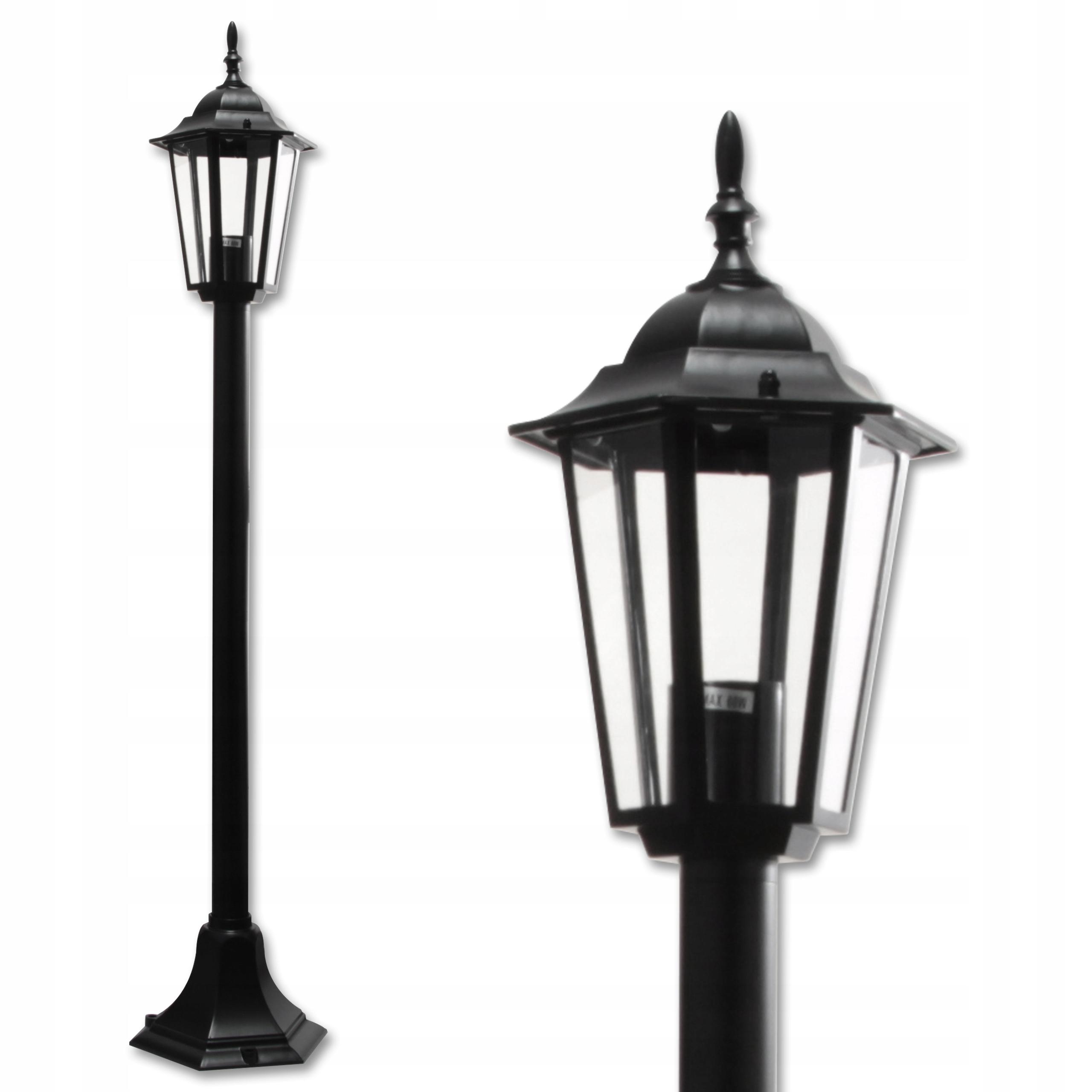 Záhradná lampa stojaca vonkajšia retro lampáš