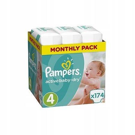 Pampers Подгузники Active Baby-dry 4 Maxi 174 шт.