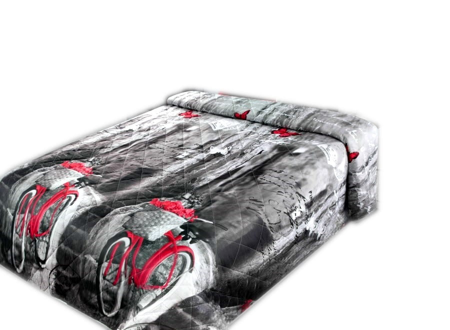 Prehoz na posteľ 170x210 cm RETRO červený