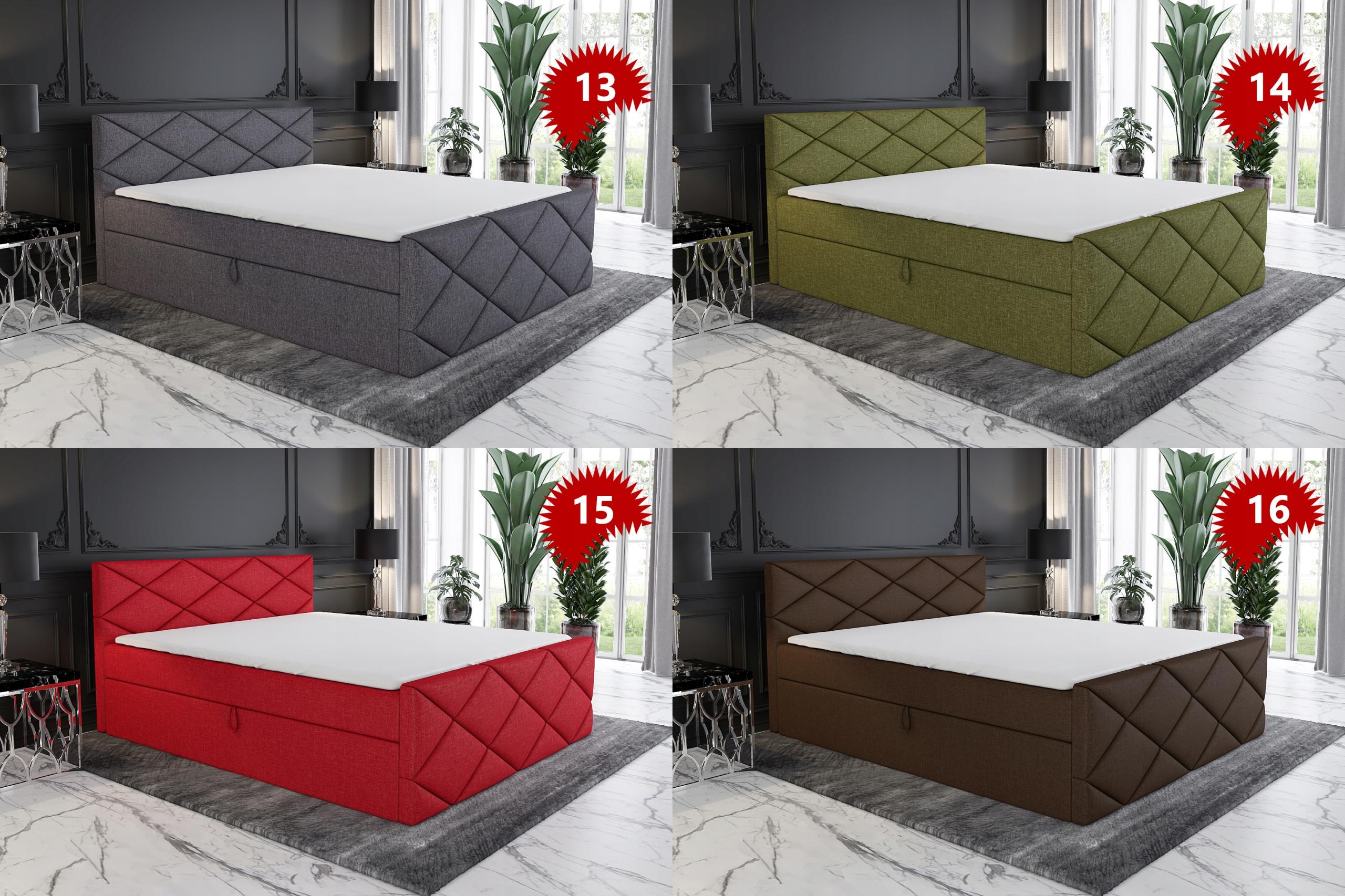 Łóżko Tapicerowane Kontynentalne LUX 120 materac Waga produktu z opakowaniem jednostkowym 90 kg