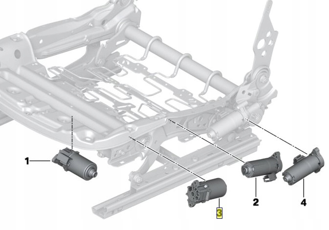 двигатель регулирования кресла w przód-tył bmw