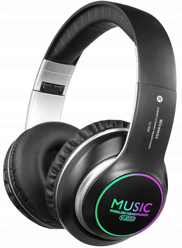 LED BLUETOOTH HOVEDTELEFONER TRÅDLØSE MP3 FM