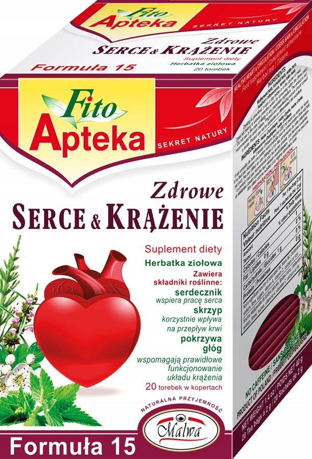 MALWA FITO APTEKA Zdrowe Serce i krążenie Herbatka