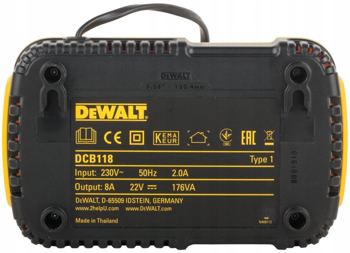 DeWalt FLEXVOLT ładowarka XR FV 18V DCB118 Napięcie (V) 18 V