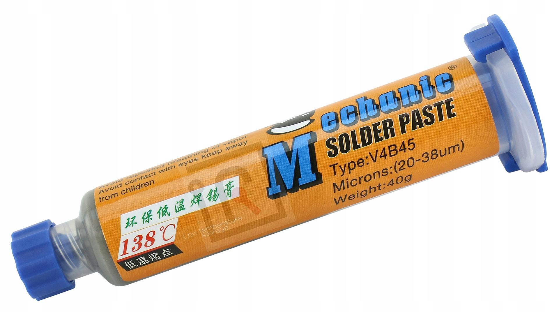 SOLDER PASTE LOW TEMPERATURE TIN 138C 40g