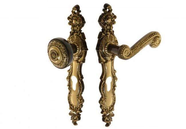Kľučka rukoväte RETRO patina 72 vložka do dverí