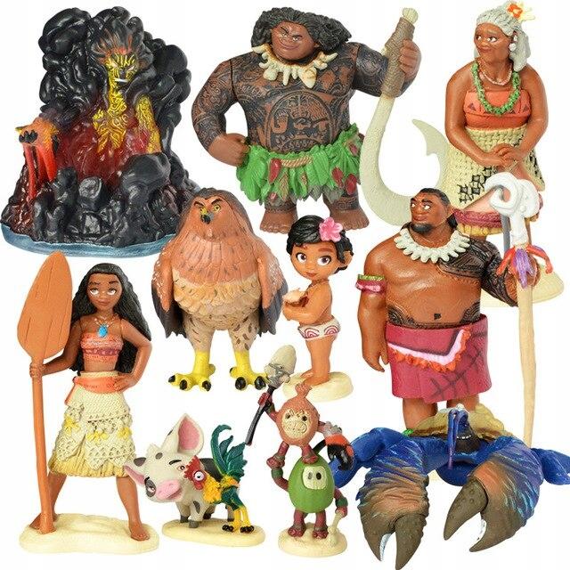 Sada akčných figúrok Vaiana Treasure of the Ocean 10 dielikov!