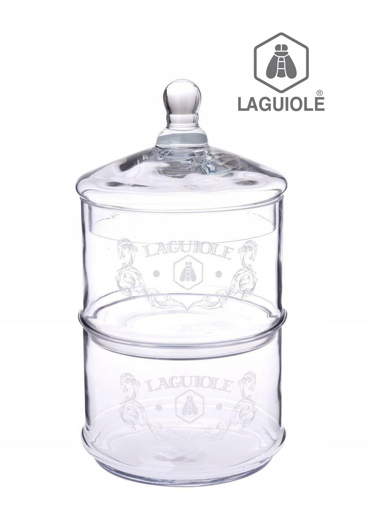 Dvojitá sklenená nádoba LAGUIOLE na sladkosti