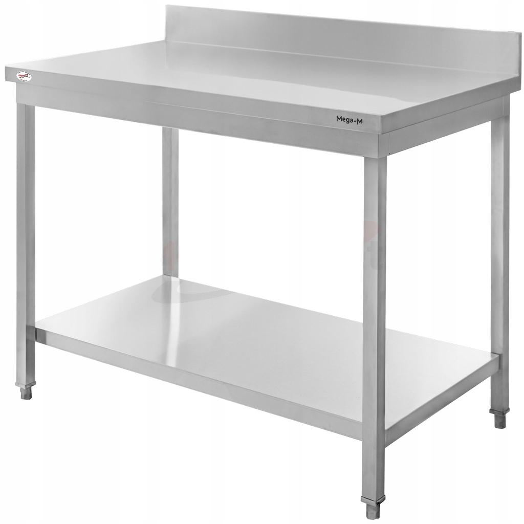 Рабочий стол из нержавеющей стали, 100x60