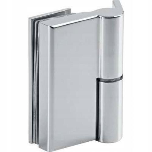 Sklenený záves dverí | chróm | sklo - stena