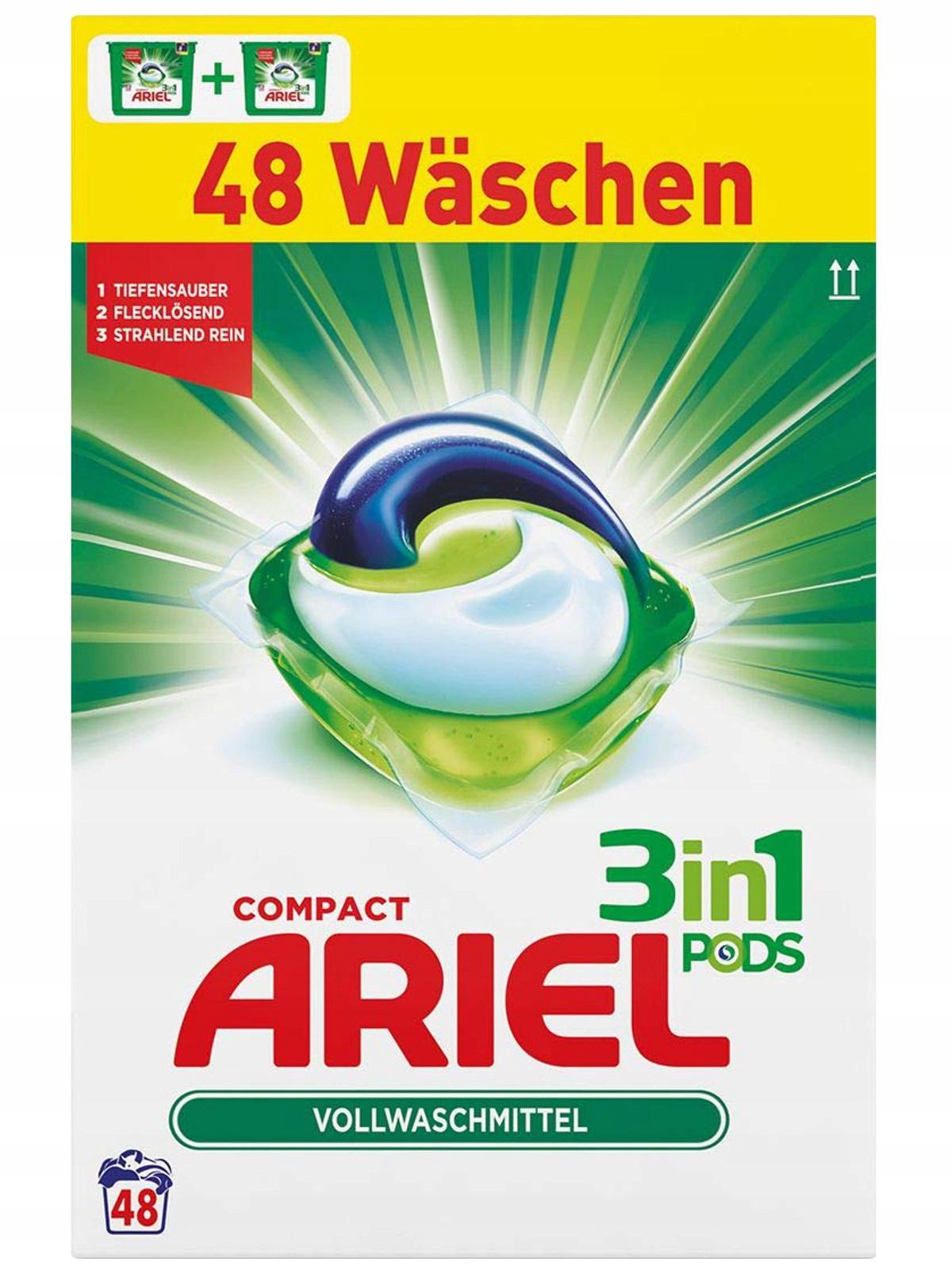Univerzálny BOX Ariel Kapsule na Umývanie 3 v 1 48szt DE