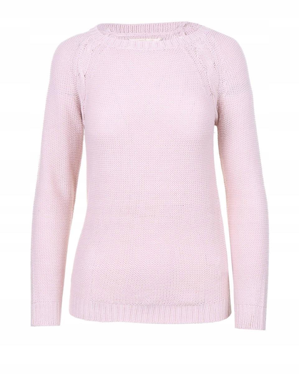 Reserved Sweter klasyczny damski różowy r. S